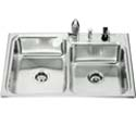 Ballad large/medium self-rimming kitchen sink