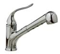 Coralais® single-control pullout spray kitchen sink faucet