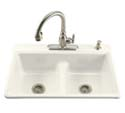 Deerfield® Smart Divide® self-rimming kitchen sink