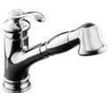 Fairfax® single-control pullout kitchen sink faucet