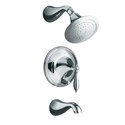 Finial® Traditional Rite-Temp® pressure-balancing bath and shower faucet trim