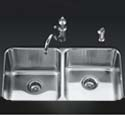 Undertone™ double equal undercounter kitchen sink