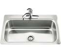 Verse™ single-basin self-rimming kitchen sink