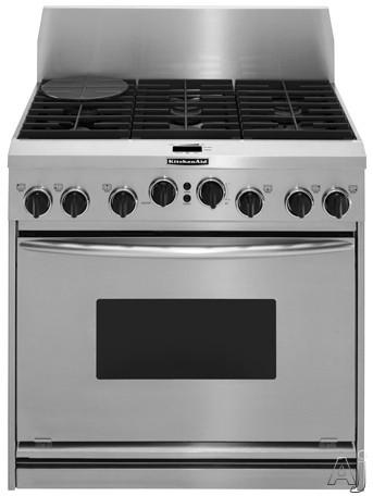 KitchenAid. KDRP487M. Architect Series® T.H.E™ True Convection Ovens  KDRP487M   48   Inch