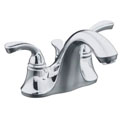 Fort�® centerset lavatory faucet with sculpted lever handles