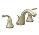 Fort�® widespread lavatory faucet with sculpted lever handles